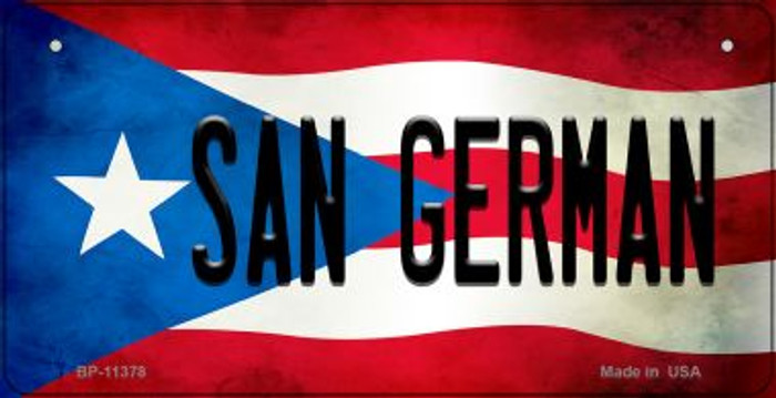 San German Puerto Rico State Flag License Plate Wholesale Bicycle License Plate BP-11378