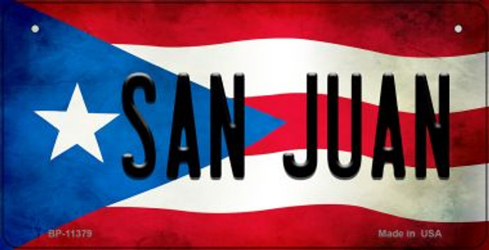 San Juan Puerto Rico State Flag License Plate Wholesale Bicycle License Plate BP-11379