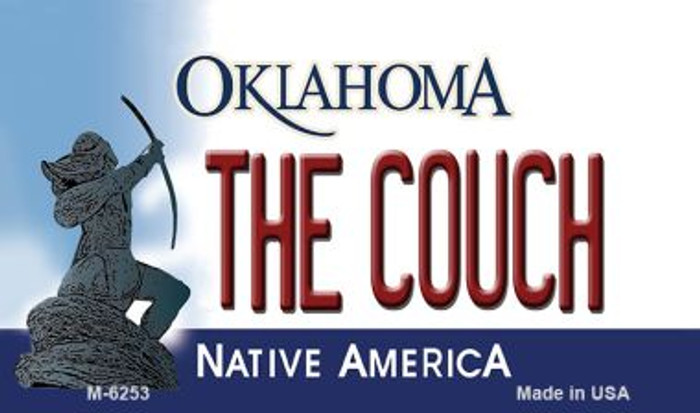 The Couch Oklahoma State License Plate Novelty Wholesale Magnet M-6253