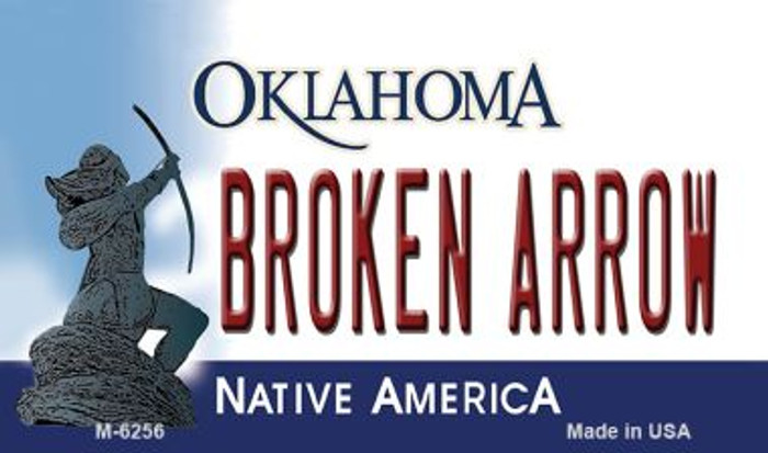 Broken Arrow Oklahoma State License Plate Novelty Wholesale Magnet M-6256