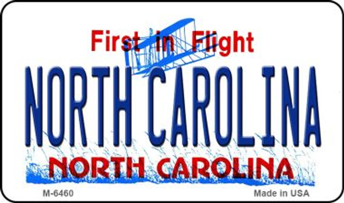 North Carolina State License Plate Wholesale Magnet M-6460