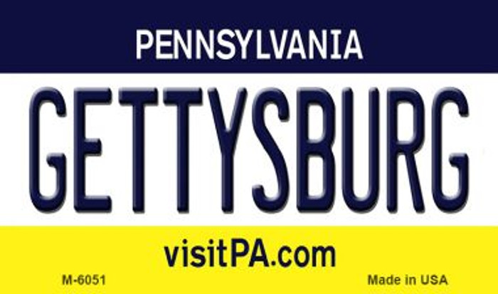 Gettysburg Pennsylvania State License Plate Wholesale Magnet M-6051