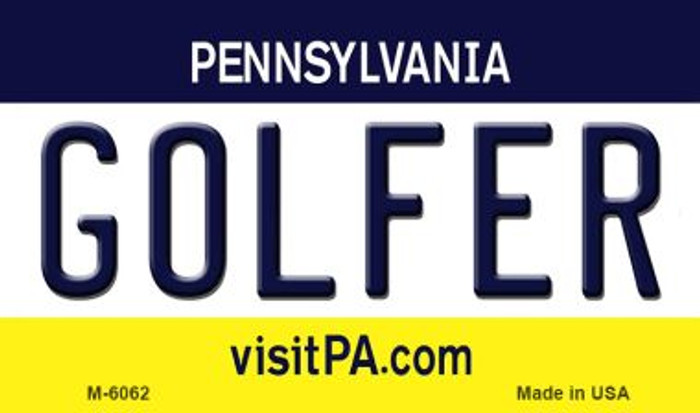 Golfer Pennsylvania State License Plate Wholesale Magnet M-6062