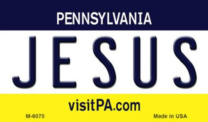 Jesus Pennsylvania State License Plate Wholesale Magnet M-6070