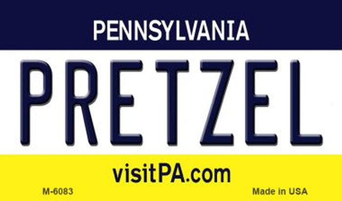 Pretzel Pennsylvania State License Plate Wholesale Magnet M-6083