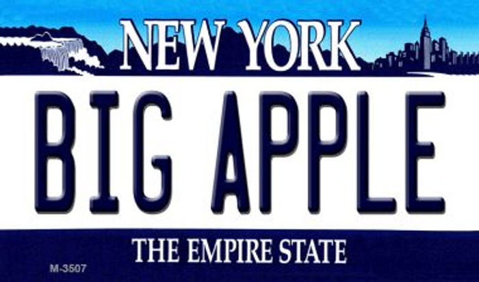 Big Apple New York State License Plate Wholesale Magnet M-3507