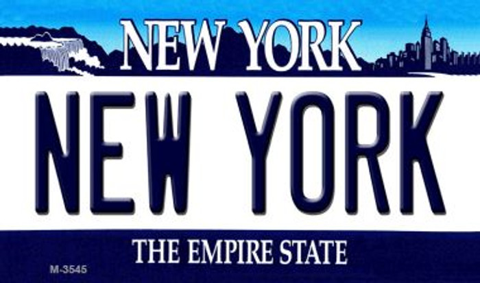New York State License Plate Wholesale Magnet M-3545