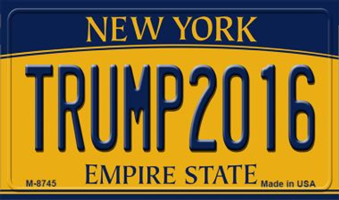 Trump2016 New York State License Plate Wholesale Magnet M-8745