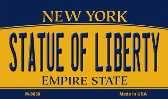 Statue of Liberty New York State License Plate Wholesale Magnet M-8939