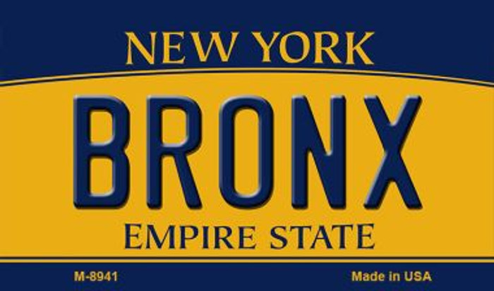 Bronx New York State License Plate Wholesale Magnet M-8941