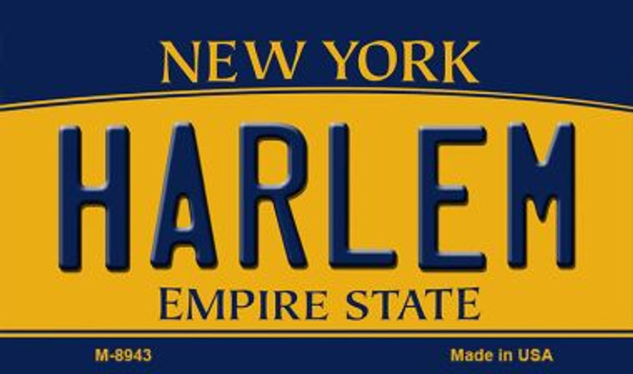 Harlem New York State License Plate Wholesale Magnet M-8943