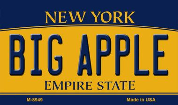 Big Apple New York State License Plate Wholesale Magnet M-8949