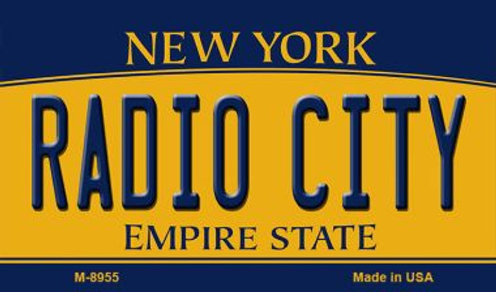 Radio City New York State License Plate Wholesale Magnet M-8955