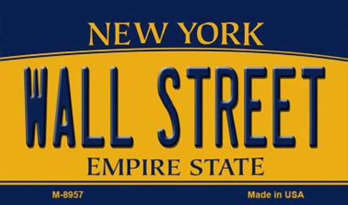 Wall Street New York State License Plate Wholesale Magnet M-8957