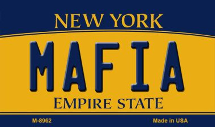 Mafia New York State License Plate Wholesale Magnet M-8962