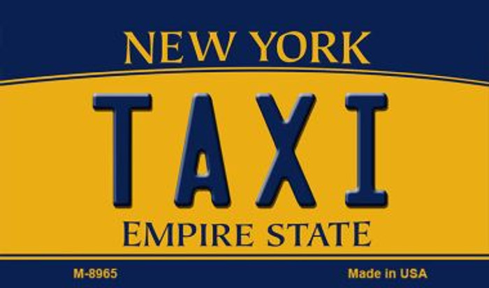 Taxi New York State License Plate Wholesale Magnet M-8965