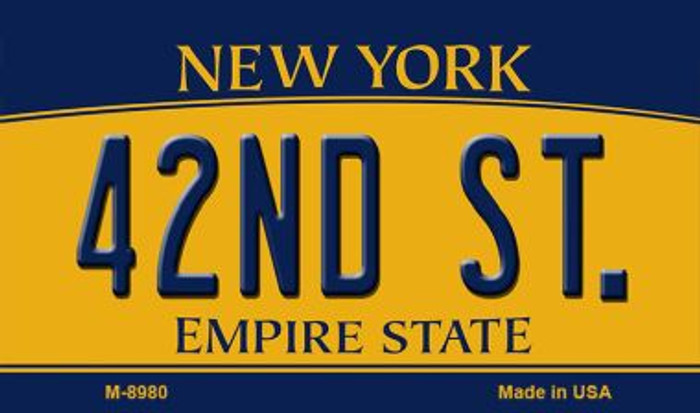 42nd St New York State License Plate Wholesale Magnet M-8980