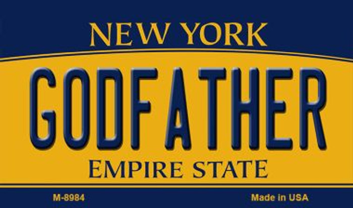 Godfather New York State License Plate Wholesale Magnet M-8984