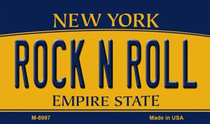 Rock N Roll New York State License Plate Wholesale Magnet M-8997