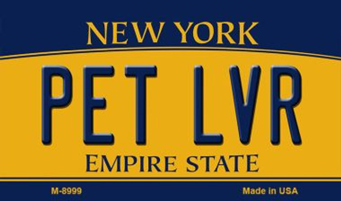 Pet LVR New York State License Plate Wholesale Magnet M-8999