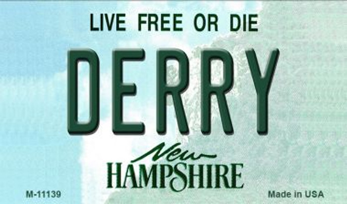 Derry New Hampshire State License Plate Wholesale Magnet M-11139