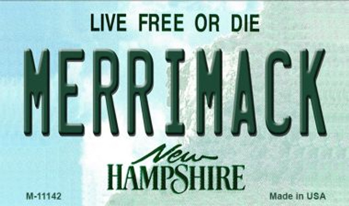 Merrimack New Hampshire State License Plate Wholesale Magnet M-11142