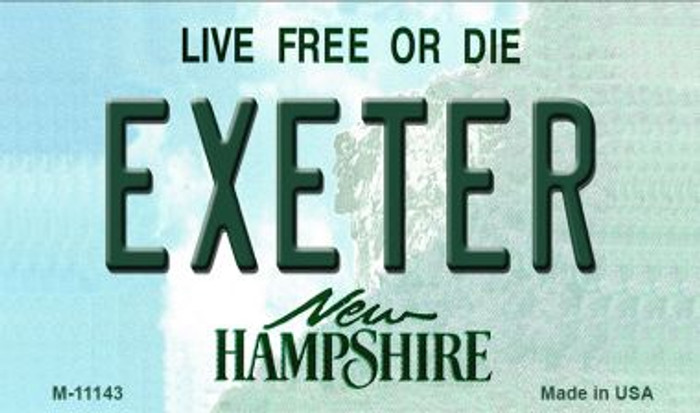 Exeter New Hampshire State License Plate Wholesale Magnet M-11143