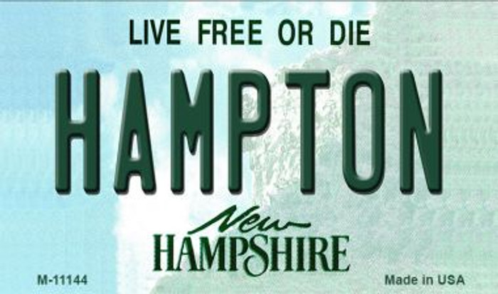 Hampton New Hampshire State License Plate Wholesale Magnet M-11144