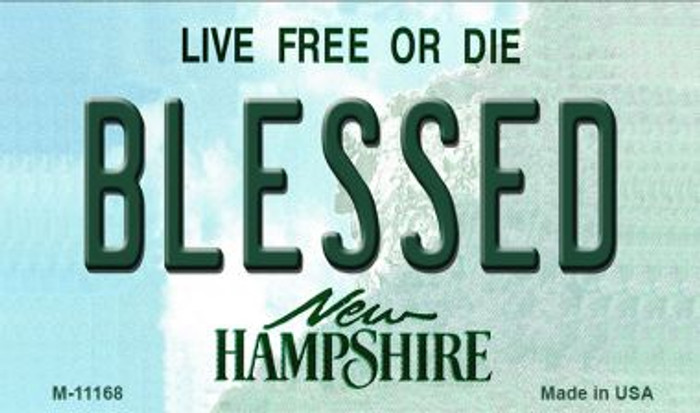 Blessed New Hampshire State License Plate Wholesale Magnet M-11168
