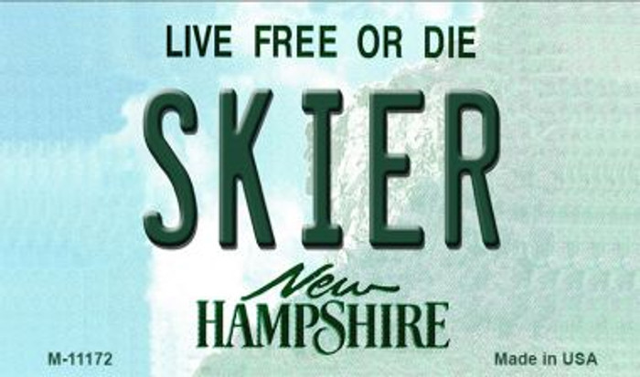 Skier New Hampshire State License Plate Wholesale Magnet M-11172