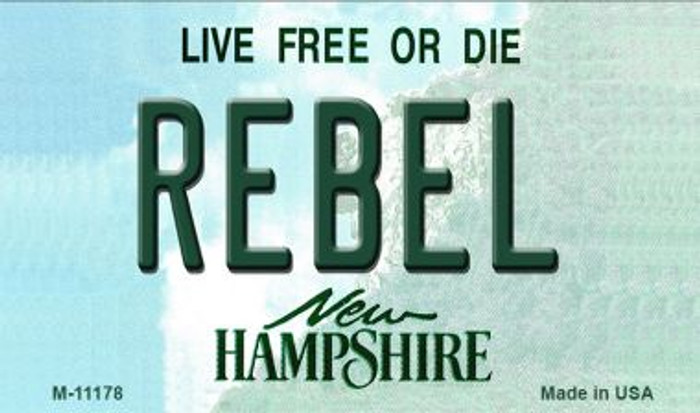 Rebel New Hampshire State License Plate Wholesale Magnet M-11178