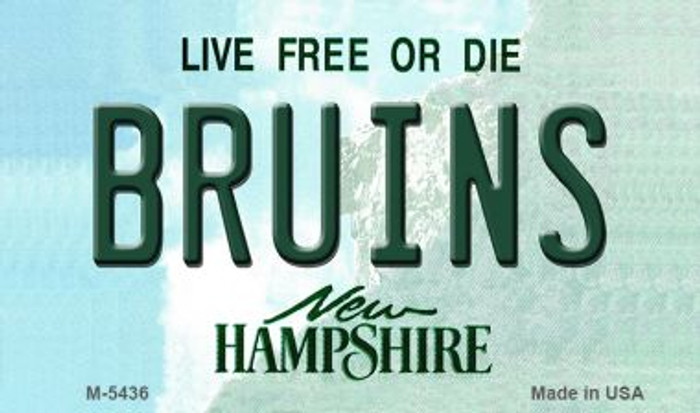 Bruins New Hampshire State License Plate Wholesale Magnet M-5436