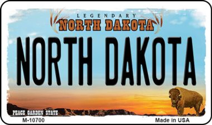 North Dakota State License Plate Wholesale Magnet M-10700