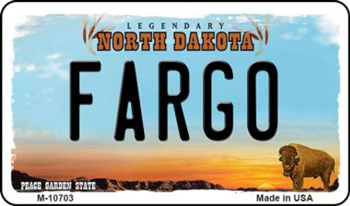 Fargo North Dakota State License Plate Wholesale Magnet M-10703