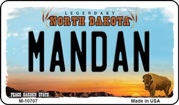 Mandan North Dakota State License Plate Wholesale Magnet M-10707
