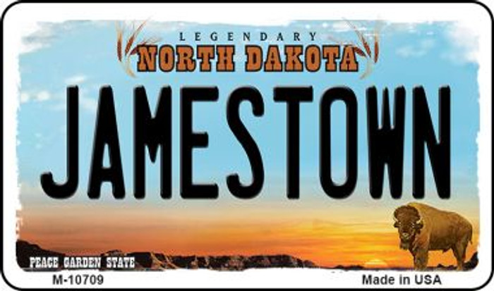 Jamestown North Dakota State License Plate Wholesale Magnet M-10709