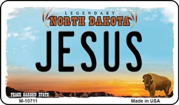 Jesus North Dakota State License Plate Wholesale Magnet M-10711