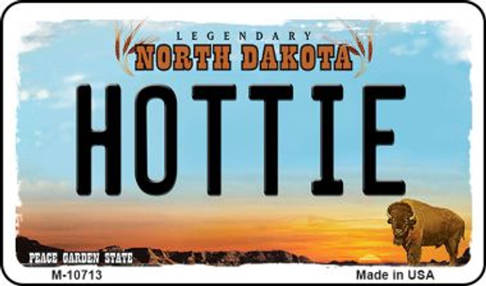 Hottie North Dakota State License Plate Wholesale Magnet M-10713