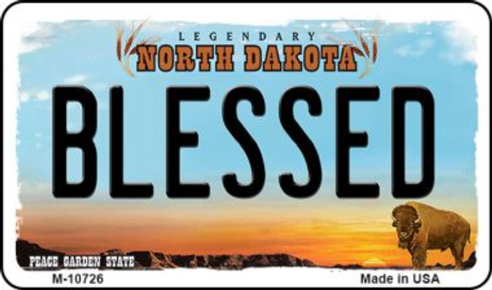 Blessed North Dakota State License Plate Wholesale Magnet M-10726