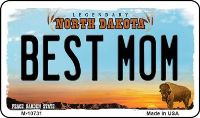 Best Mom North Dakota State License Plate Wholesale Magnet M-10731