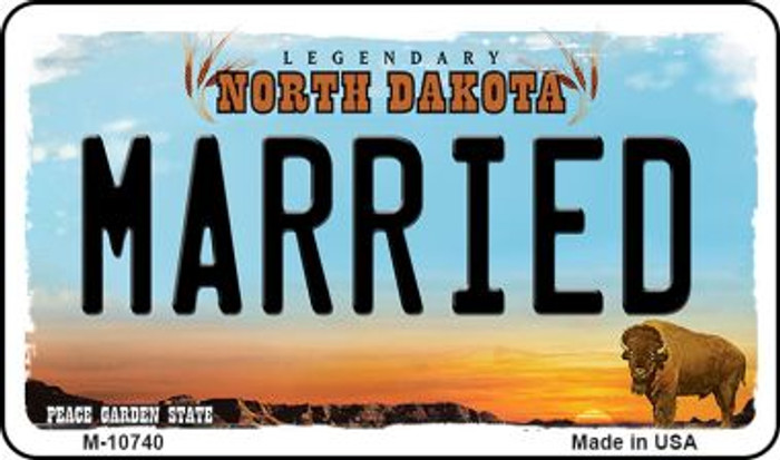 Married North Dakota State License Plate Wholesale Magnet M-10740
