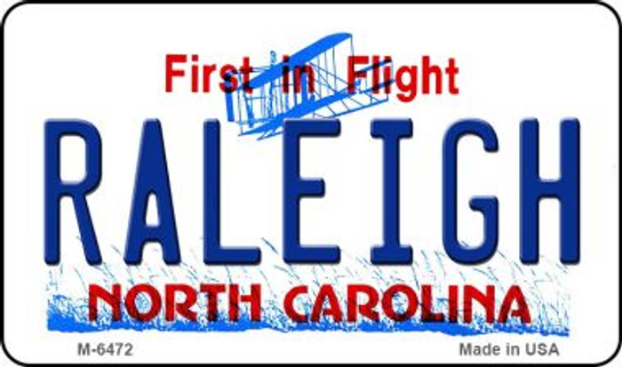 Raleigh North Carolina State License Plate Wholesale Magnet M-6472