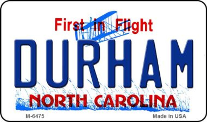 Durham North Carolina State License Plate Wholesale Magnet M-6475