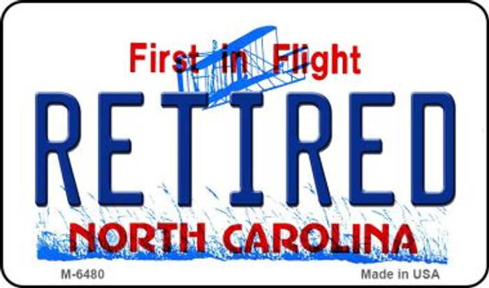 Retired North Carolina State License Plate Wholesale Magnet M-6480