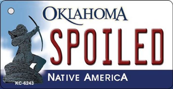 Spoiled Oklahoma State License Plate Novelty Wholesale Key Chain KC-6243