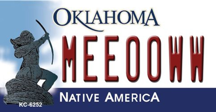 Meeooww Oklahoma State License Plate Novelty Wholesale Key Chain KC-6252