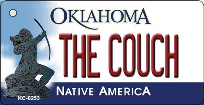 The Couch Oklahoma State License Plate Novelty Wholesale Key Chain KC-6253