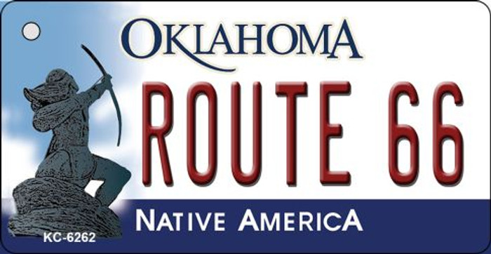 Route 66 Oklahoma State License Plate Novelty Wholesale Key Chain KC-6262