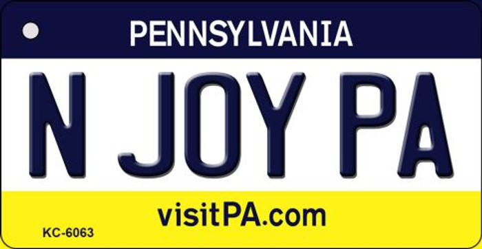 N Joy PA Pennsylvania State License Plate Wholesale Key Chain KC-6063