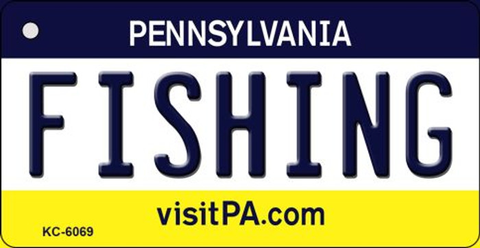 Fishing Pennsylvania State License Plate Wholesale Key Chain KC-6069
